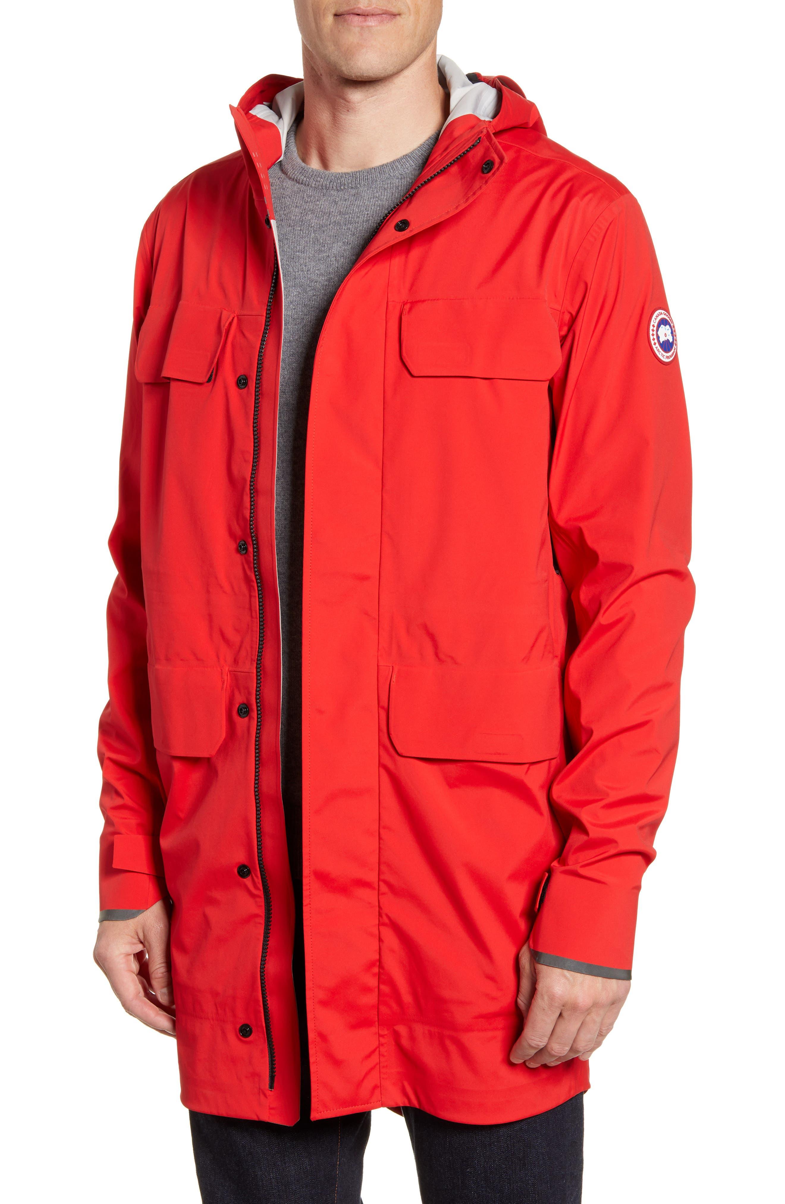 Canada Goose Seawolf Regular Fit Packable Waterproof Jacket, Red