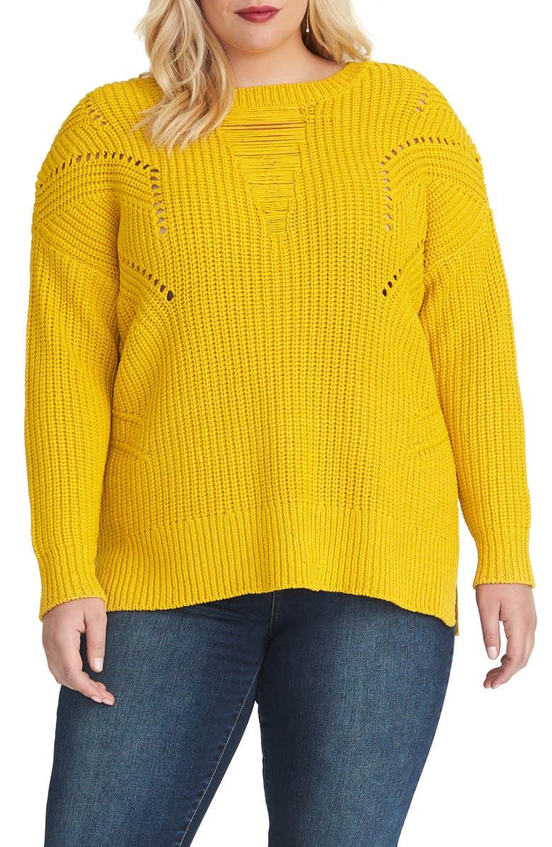 RACHEL RACHEL ROY Rina Sweater, Main, color, TURMERIC