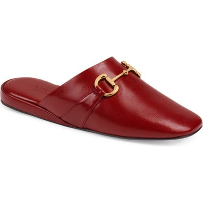 Gucci Pericle Square Toe Mule, Red