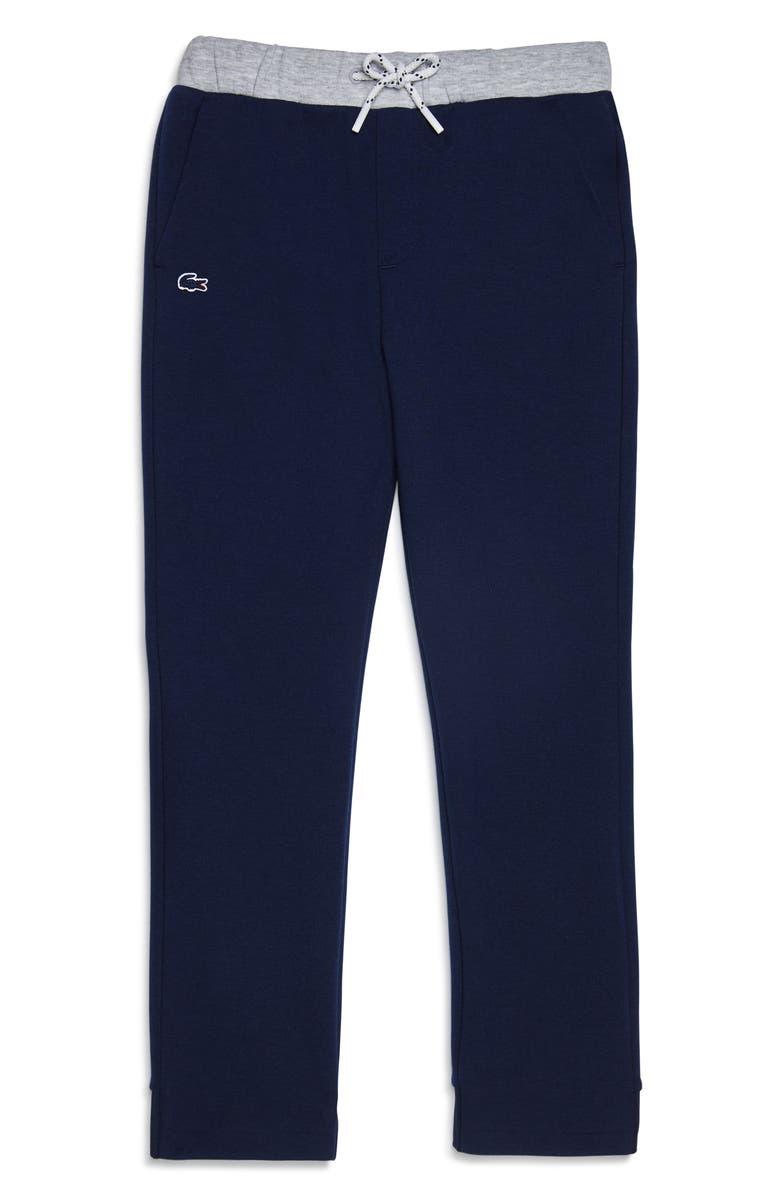 LACOSTE Fleece Jogger Sweatpants, Main, color, NAVY BLUE/ SILVER CHINE