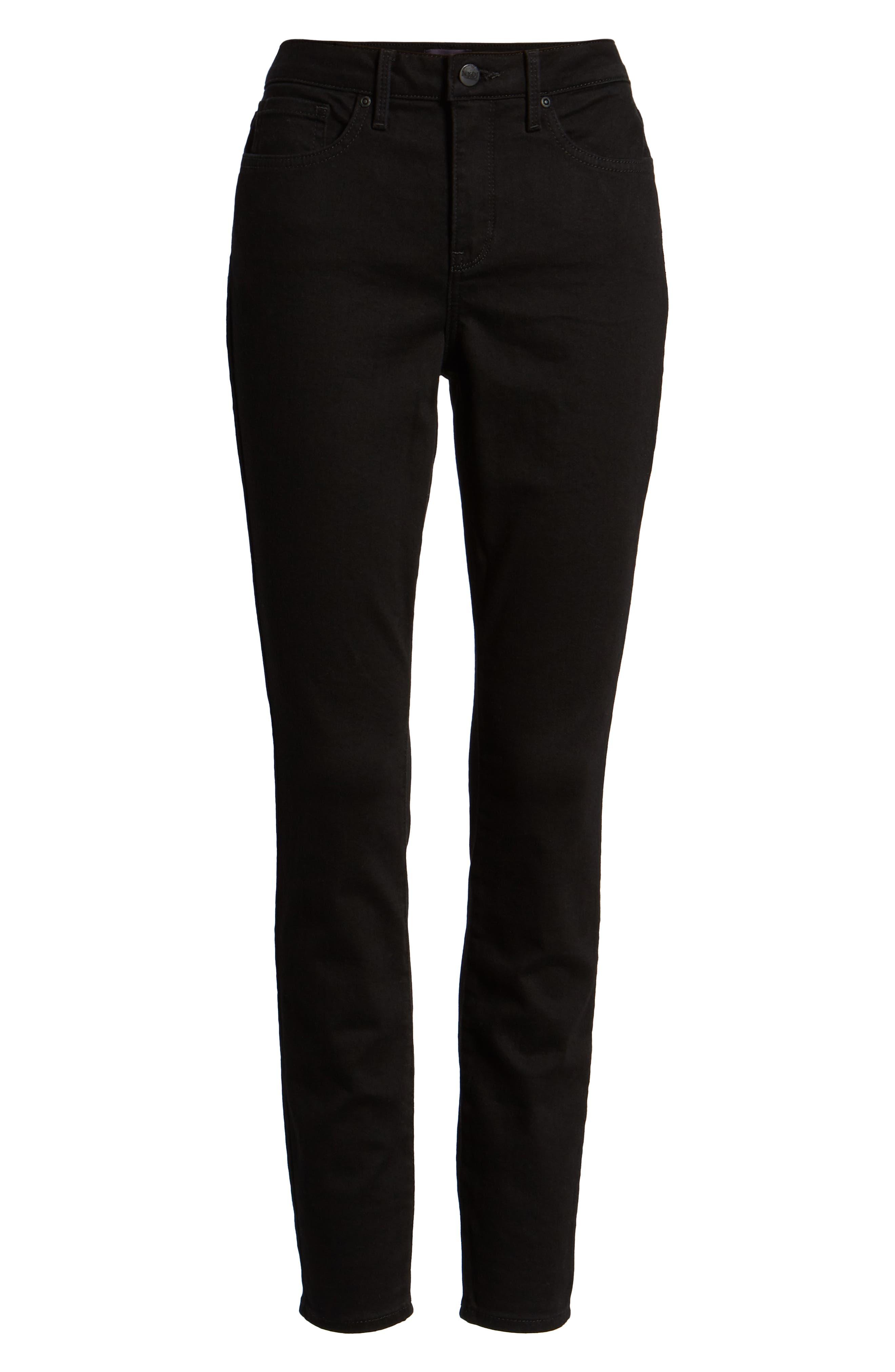 ,                             Ami High Waist Stretch Super Skinny Jeans,                             Alternate thumbnail 7, color,                             BLACK