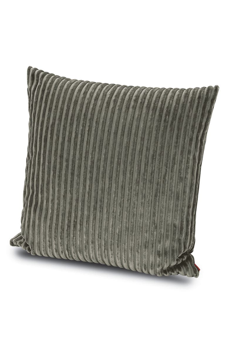 MISSONIHOME Rabat Texture Stripe Accent Pillow, Main, color, GREY
