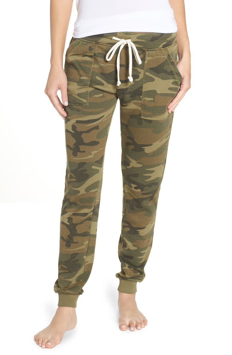 ALTERNATIVE Long Weekend Camo Lounge Pants, Main, color, CAMO