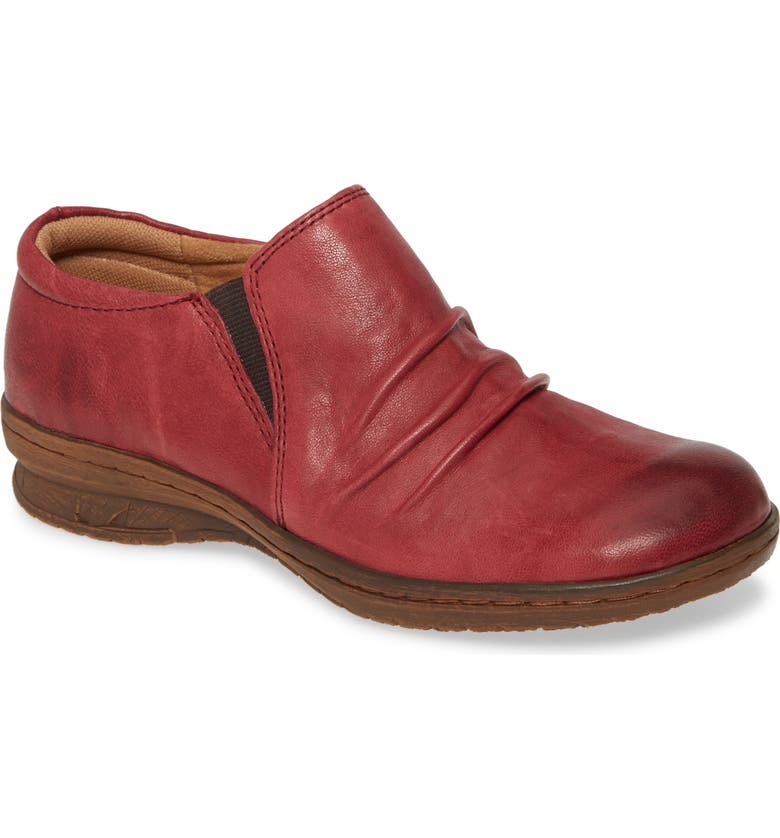 COMFORTIVA Florian Flat, Main, color, WINE RED LEATHER