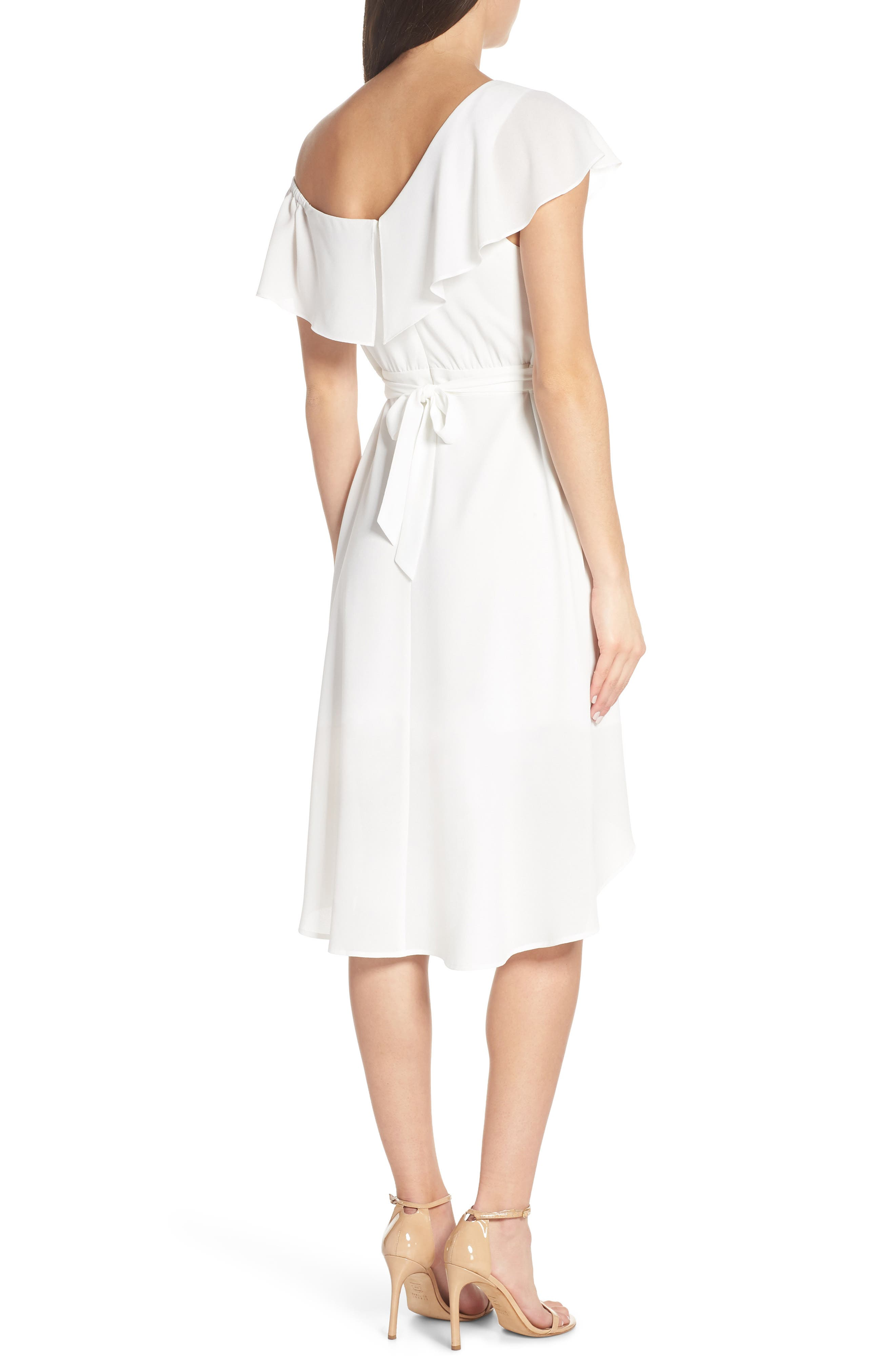,                             Day at the Races Chiffon Dress,                             Alternate thumbnail 2, color,                             WHITE