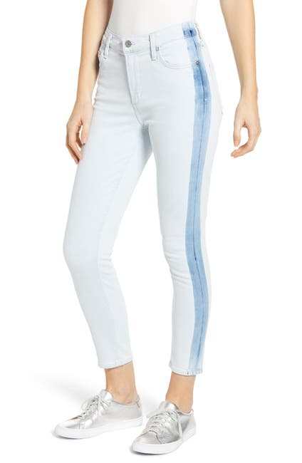 Image of Citizens Of Humanity Rocket Side Stripe High Waist Crop Skinny Jeans