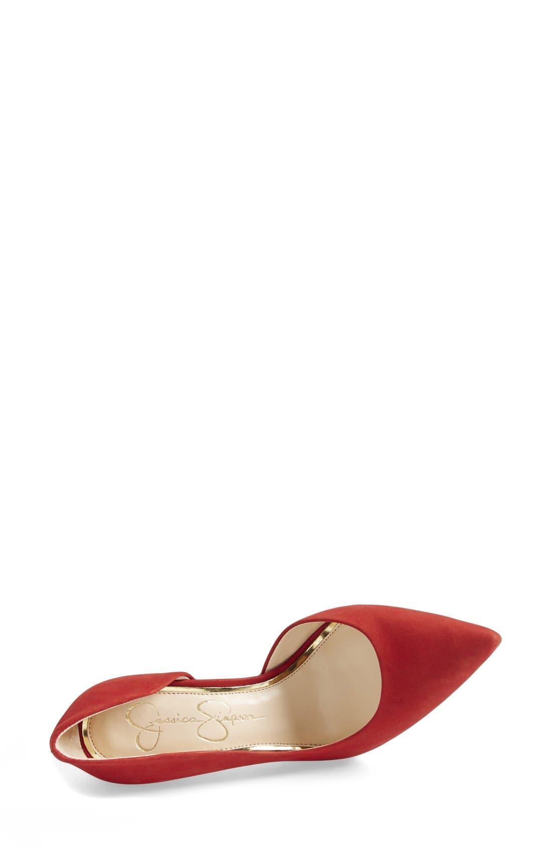 ,                             'Claudette' Half d'Orsay Pump,                             Alternate thumbnail 215, color,                             600