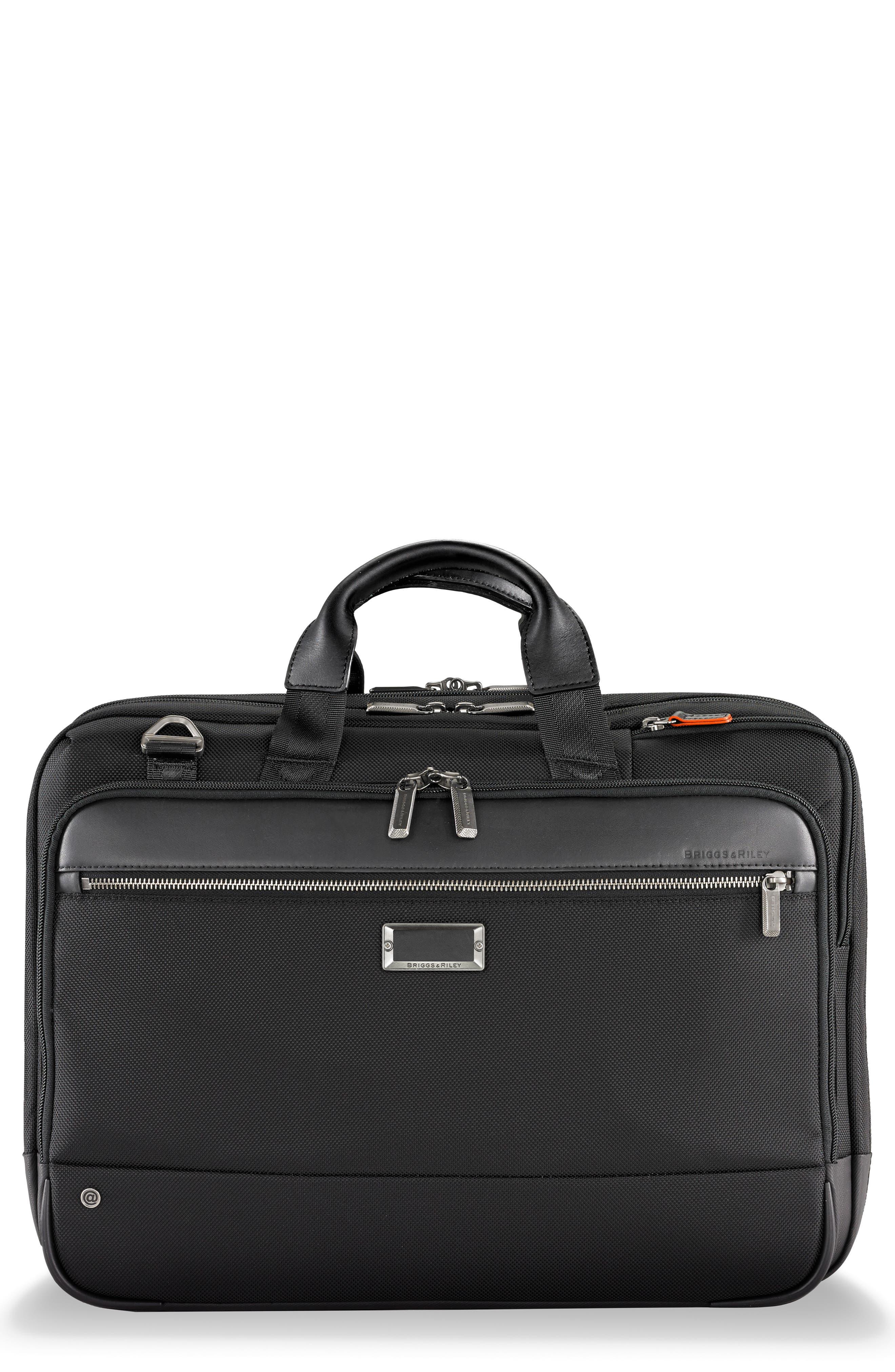 @work Large Expandable Ballistic Nylon Laptop Briefcase With Rfid Pocket