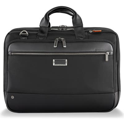 Briggs & Riley @work Large Expandable Ballistic Nylon Laptop Briefcase With Rfid Pocket - Black