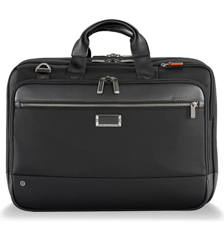 BRIGGS & RILEY @work Large Expandable Ballistic Nylon Laptop Briefcase with RFID Pocket, Main, color, BLACK