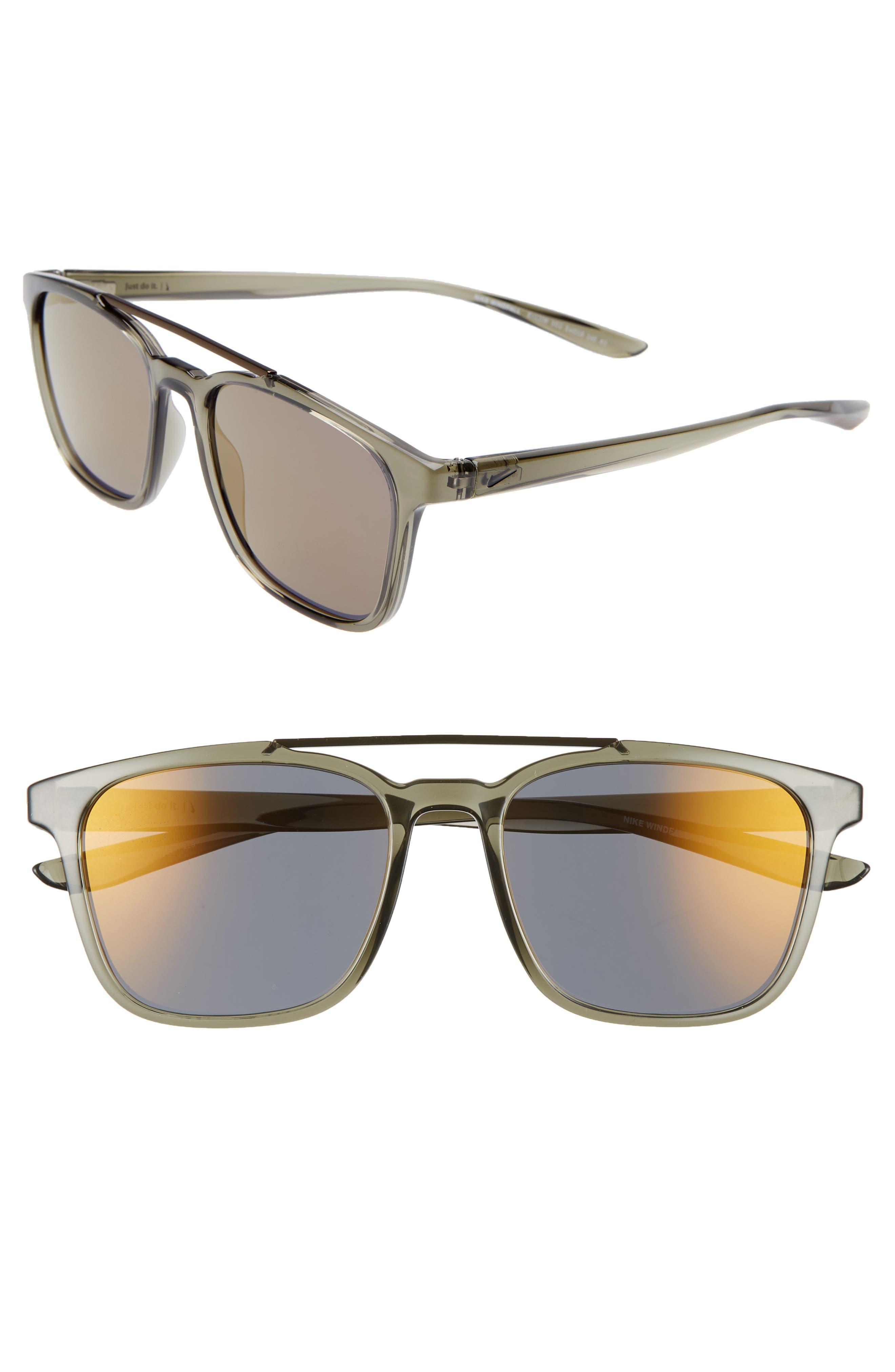 Nike Windfall 5m Square Sunglasses - Grey/ Grey