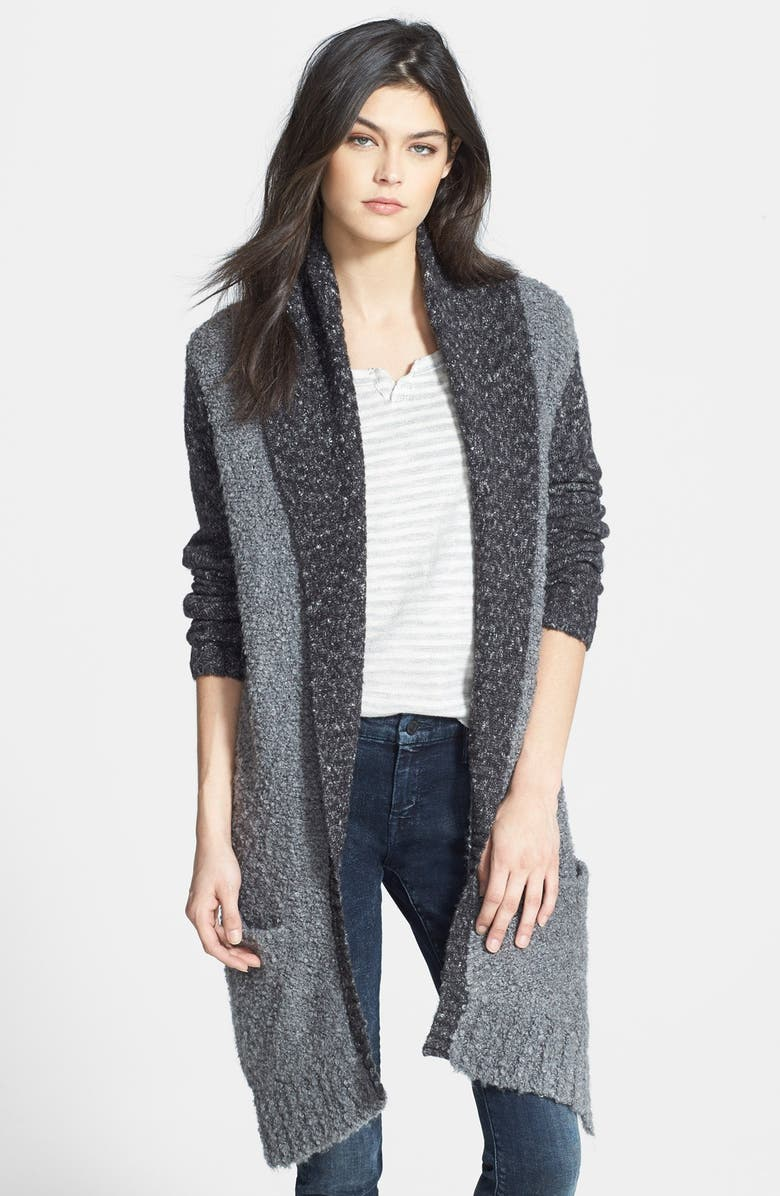 HINGE 'Poodle' Mixed Cardigan, Main, color, 020