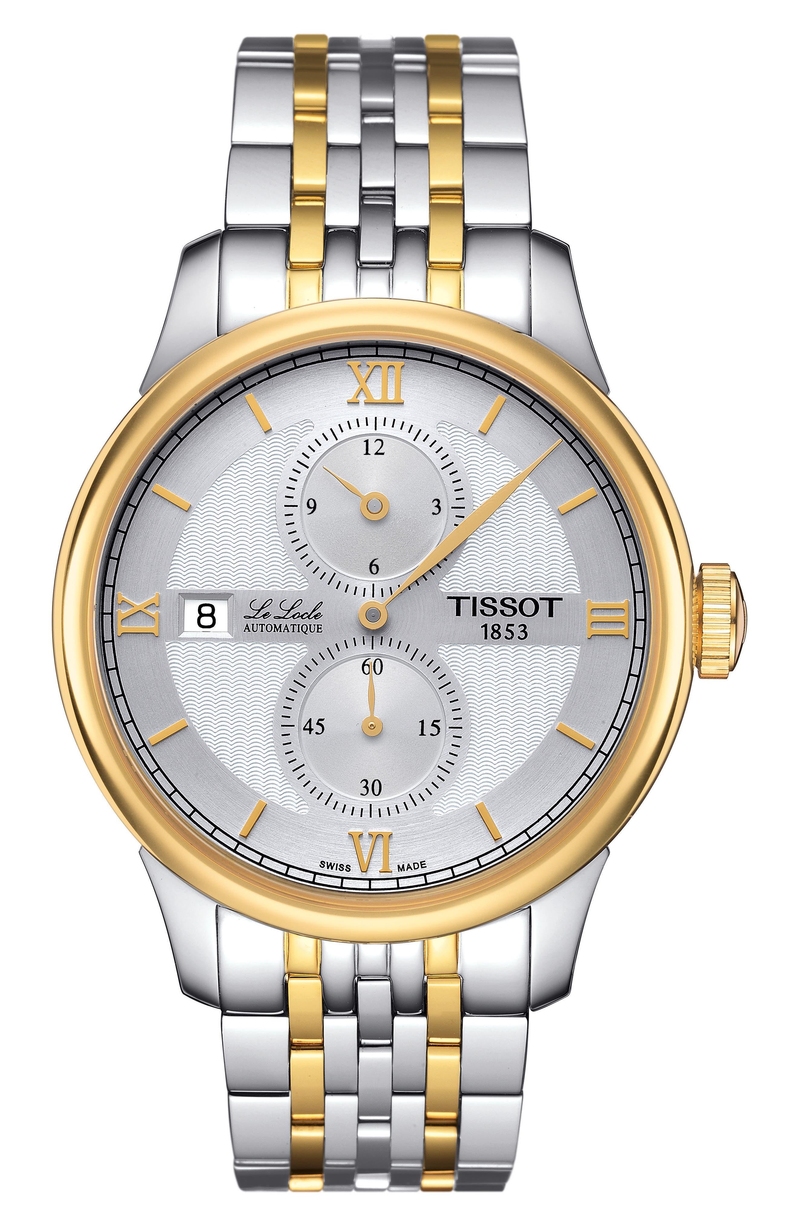 Image of Tissot Men's Le Locle Automatic Bracelet Watch, 39mm