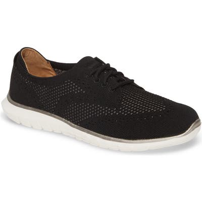 Hush Puppies Tricia Wingtip Knit Sneaker, Black