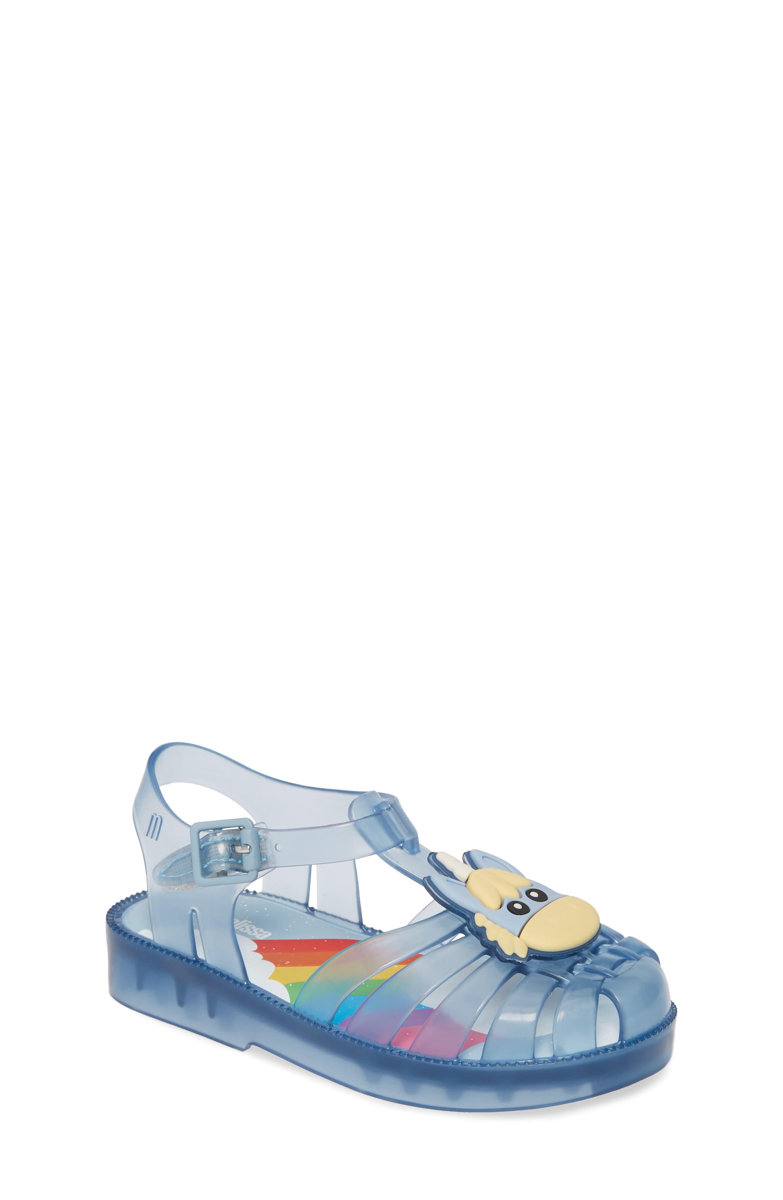Toddler Girls Melissa Possession Unicorn Glitter Sandal Size 10 M  Blue