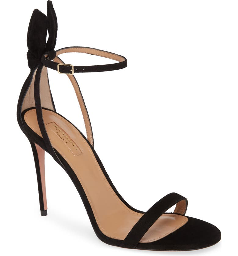 AQUAZZURA Deneuve Stiletto Sandal, Main, color, BLACK