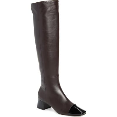 Gianvito Rossi Cap Toe Over The Knee Boot, Black