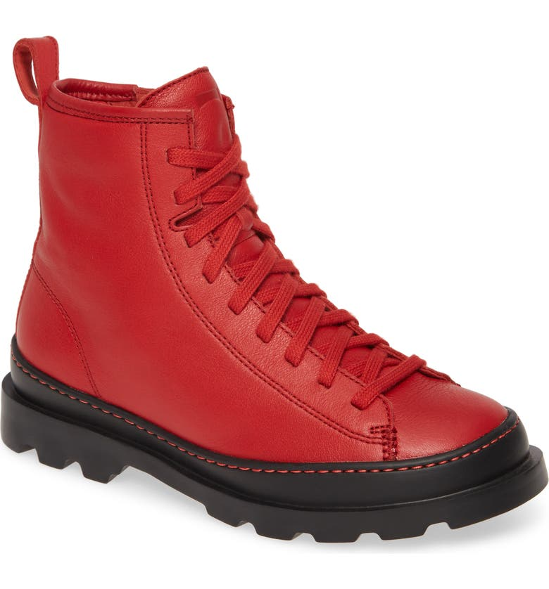 CAMPER Brutus Bootie, Main, color, RED LEATHER