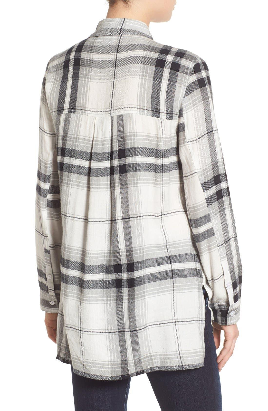 ,                             Plaid Tunic Shirt,                             Alternate thumbnail 39, color,                             900