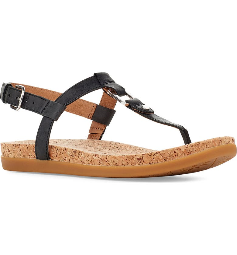 UGG<SUP>®</SUP> Aleigh Sandal, Main, color, 001
