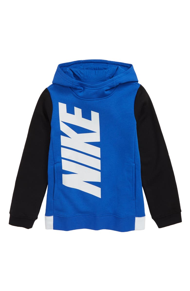 NIKE Core Amplify Hoodie, Main, color, GAME ROYAL/ BLACK