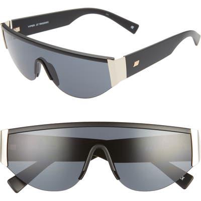 Le Specs Viper 130Mm Shield Sunglasses - Matte Black Gold/ Smoke Mono