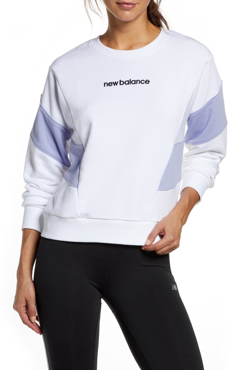 NEW BALANCE Athletics Fleece Sweatshirt, Main, color, 100