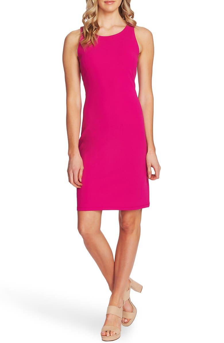VINCE CAMUTO Ponte Sheath Dress, Main, color, PINK SHOCK