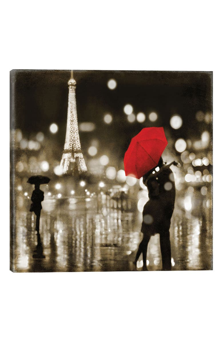 ICanvas A Paris Kiss By Kate Carrigan Gicl E Print Canvas Art