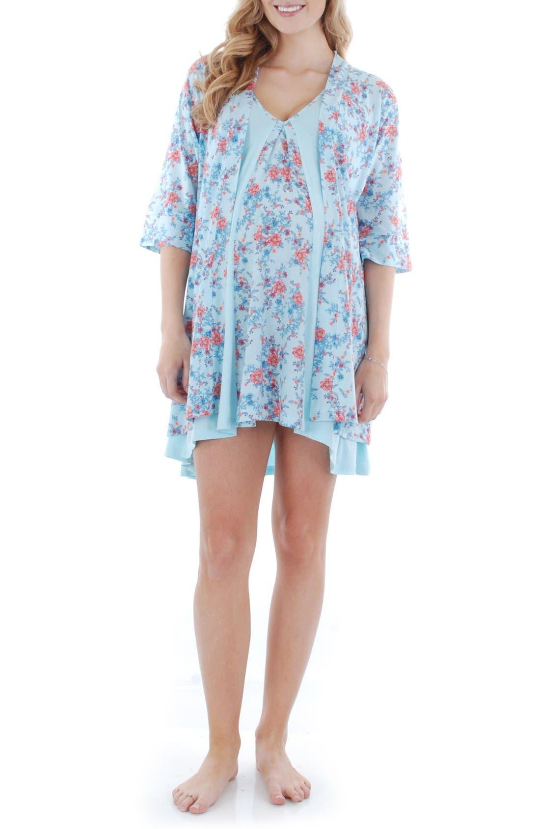Dawn 4-Piece Maternity/nursing Pajama Set