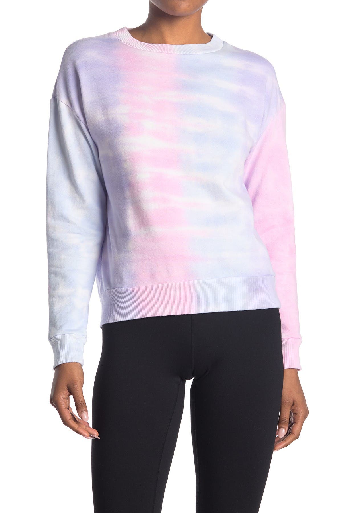 Image of 90 Degree By Reflex Brushed Tie Dye Sweatshirt
