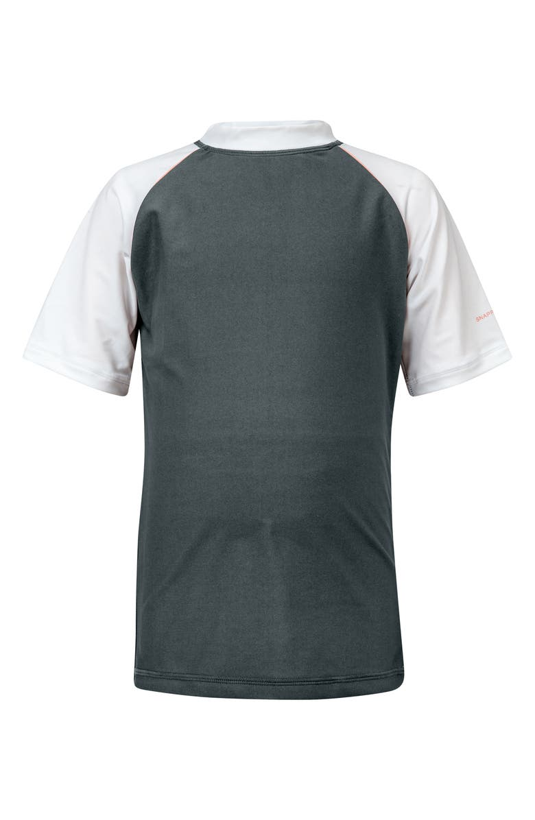 SNAPPER ROCK Raglan Short Sleeve Rashguard, Main, color, STEEL GREY
