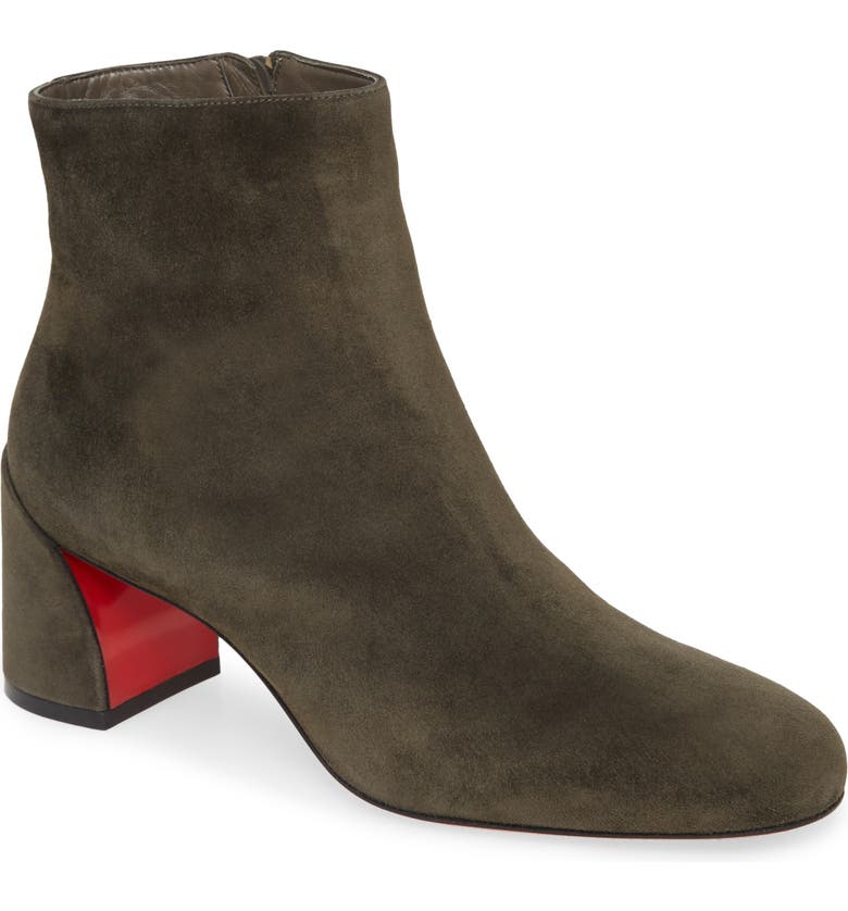 CHRISTIAN LOUBOUTIN Christain Louboutin Turela Bootie, Main, color, OLIVE SUEDE
