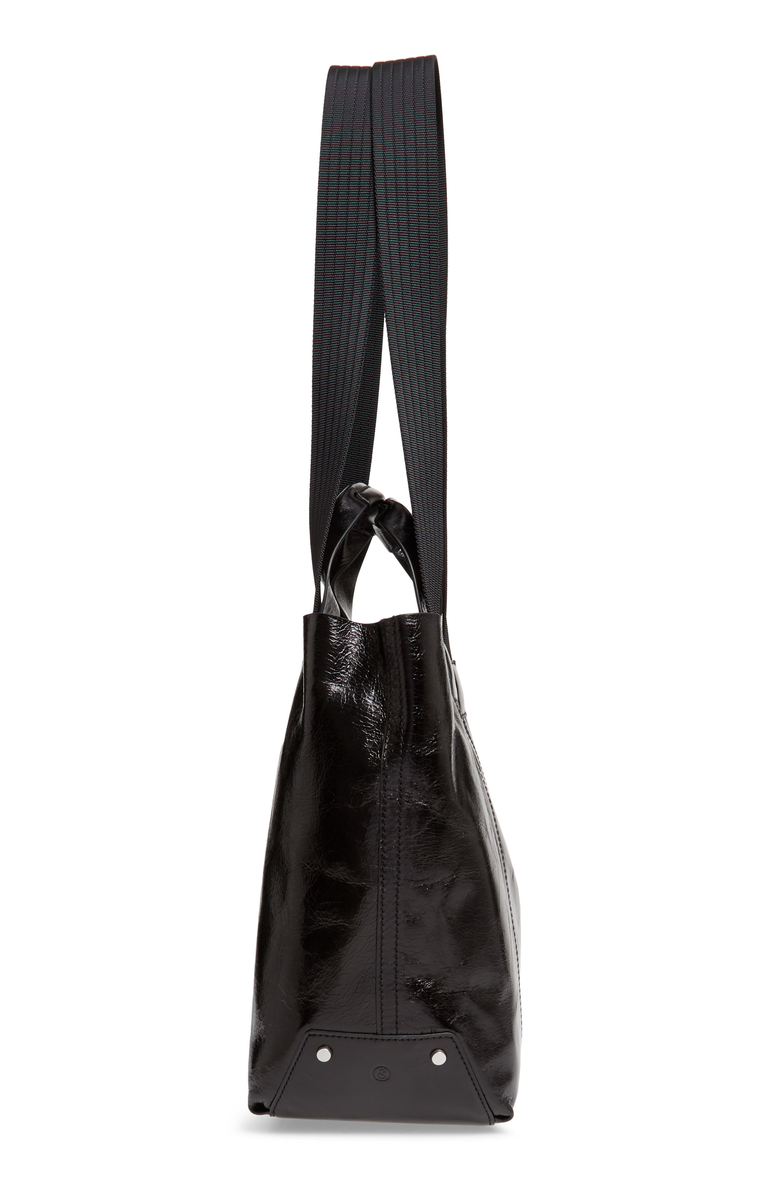 ,                             Austen Leather Tote,                             Alternate thumbnail 6, color,                             BLACK