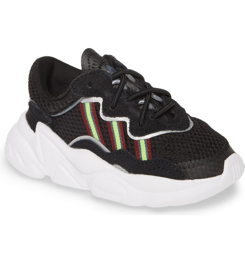 ADIDAS Ozweego Sneaker, Main, color, CORE BLACK/ SOLAR GREEN/ ONYX