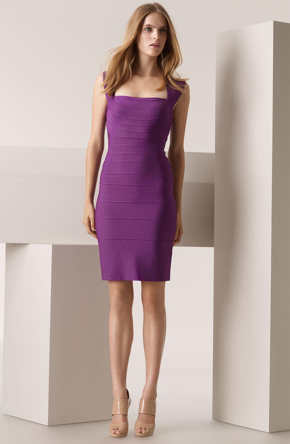 ,                             Double Strap Bandage Dress,                             Main thumbnail 3, color,                             674