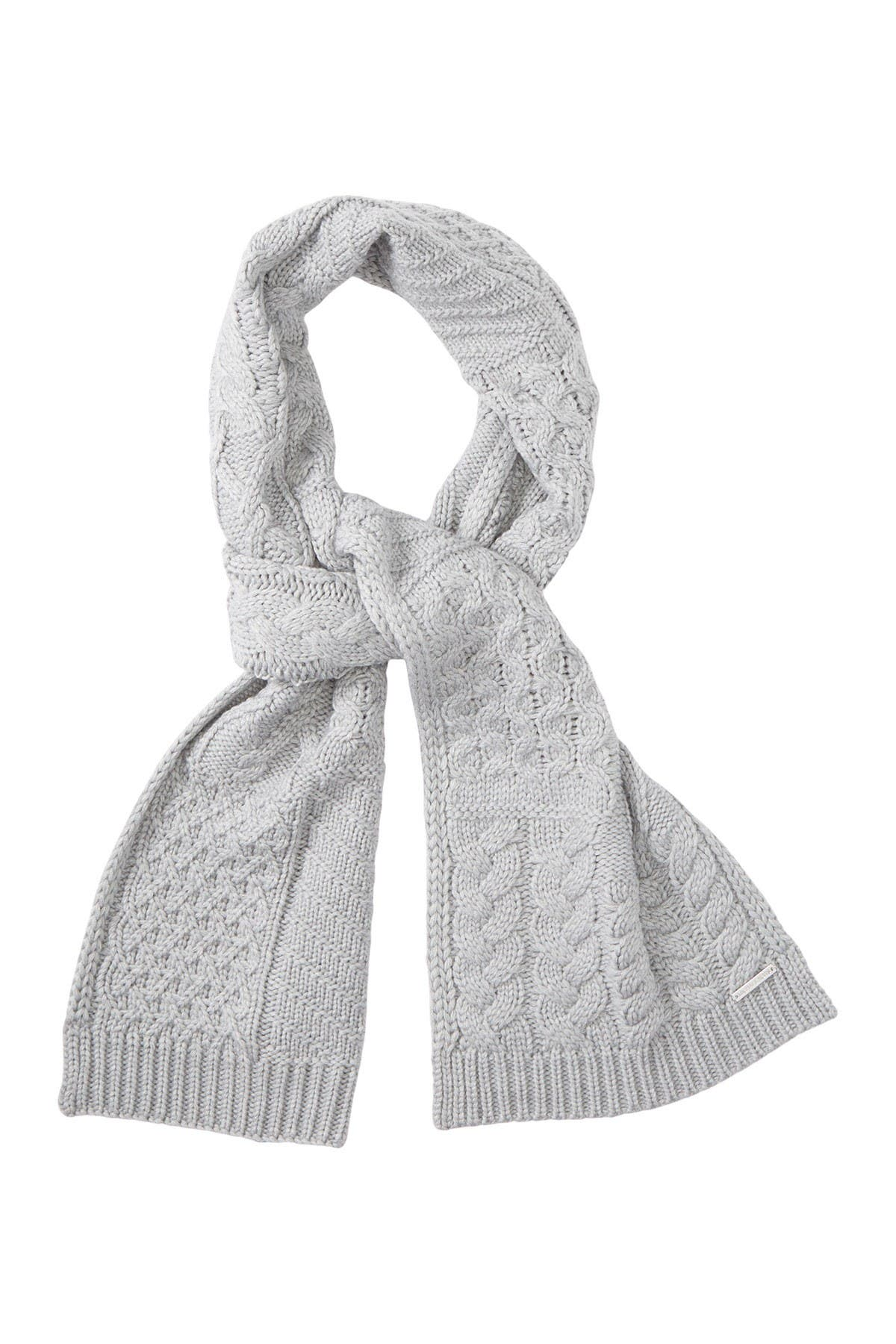 Image of Michael Kors Patchwork Cable Muffler