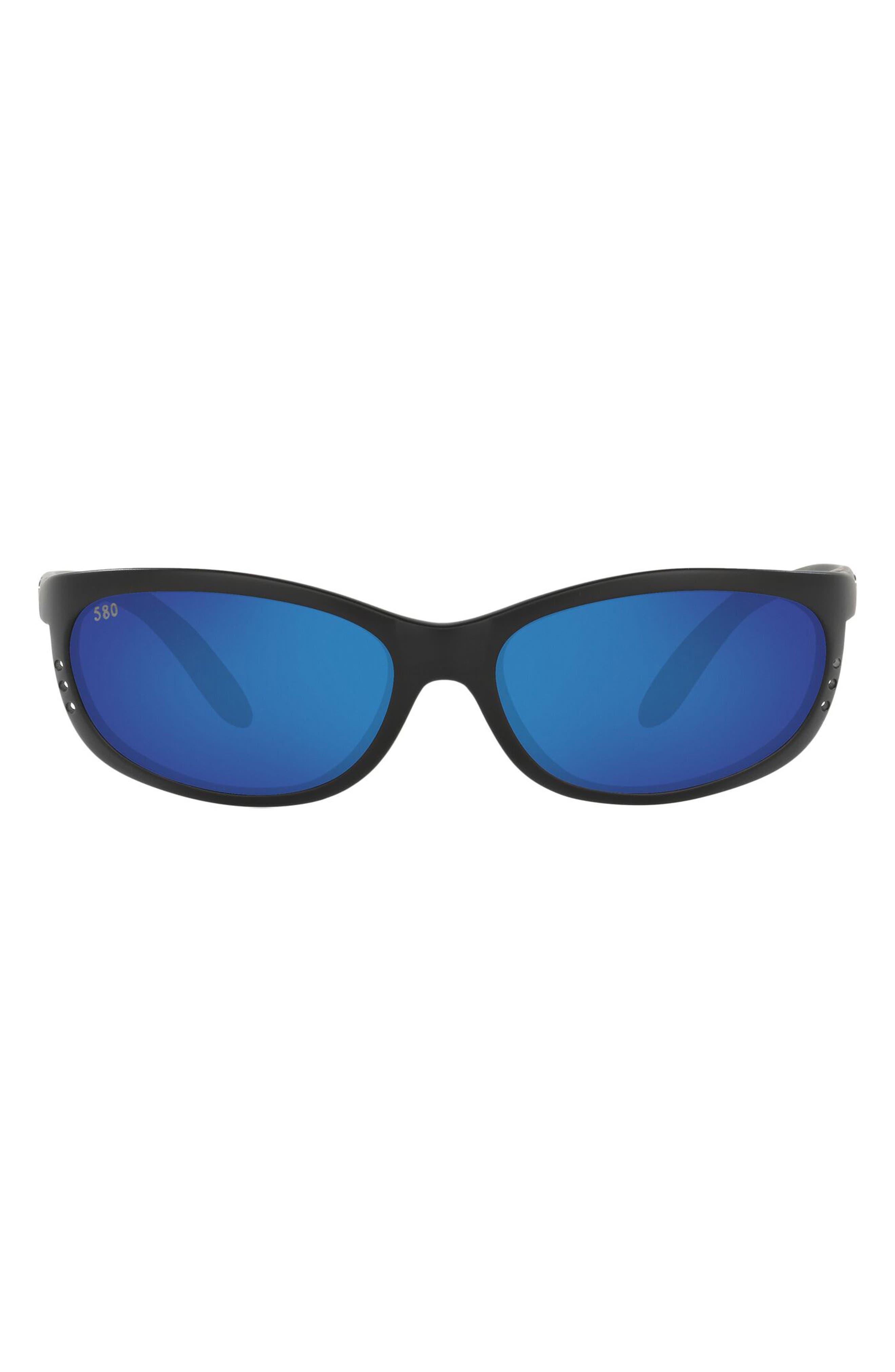 61mm Polarized Oval Sunglasses