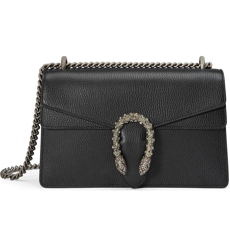 GUCCI Small Dionysus Leather Shoulder Bag, Main, color, 8176 NERO/BLACK DIAMOND