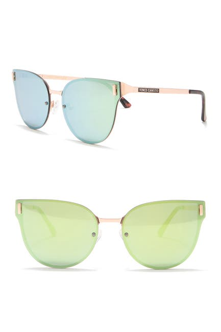 Image of Vince Camuto Metal Backframe Butterfly Sunglasses
