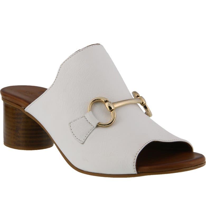SPRING STEP Deisyluv Slide Sandal, Main, color, WHITE LEATHER