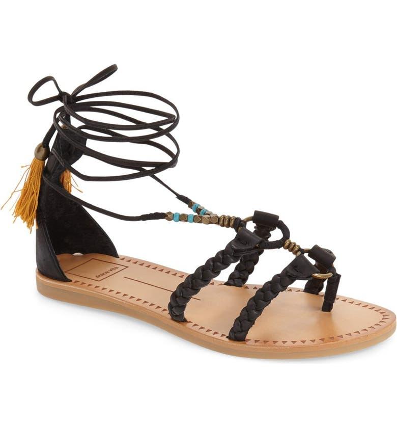 DOLCE VITA 'Jinny' Tassel Sandal, Main, color, 001