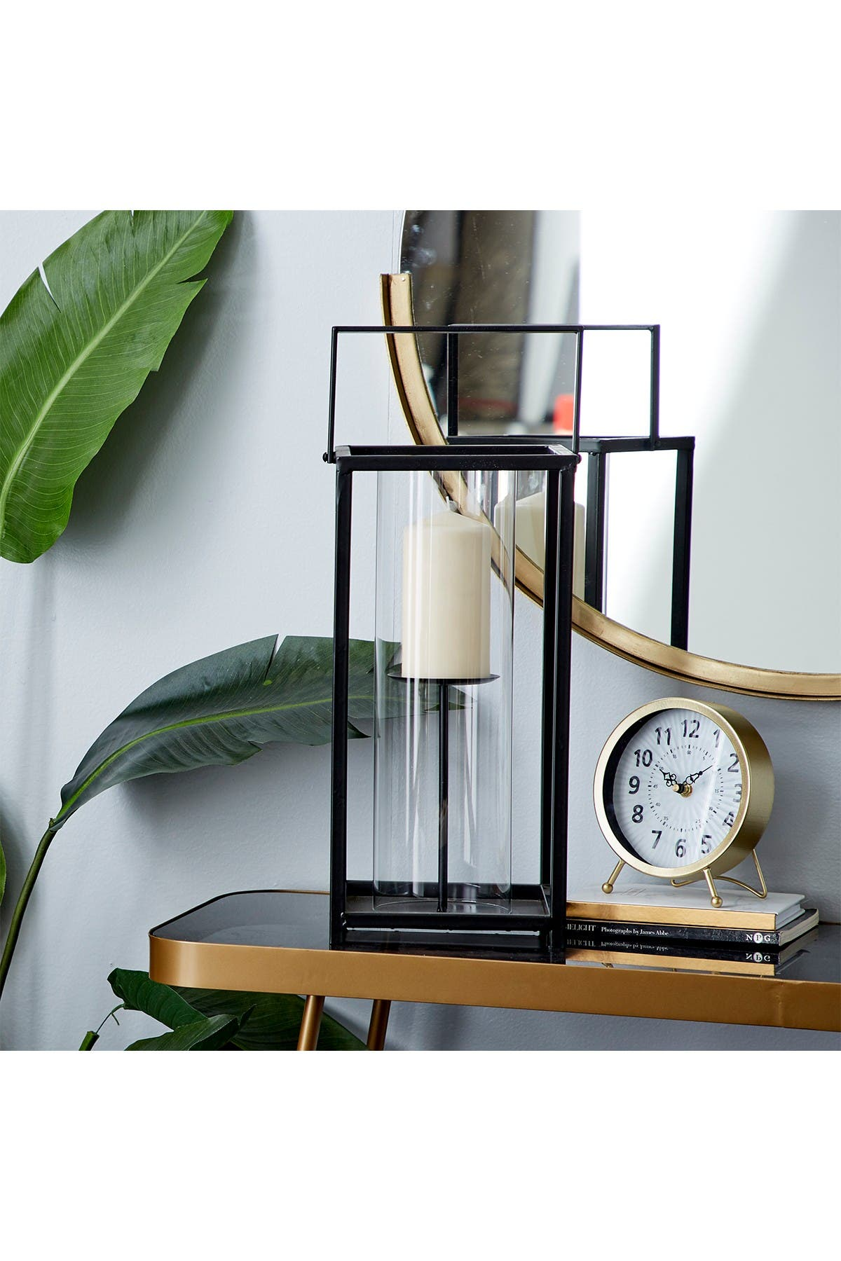 Willow Row Large Rectangle Contemporary Iron And Glass Candle Holder In Black Finish With Metal Handle 8 X20 Nordstrom Rack