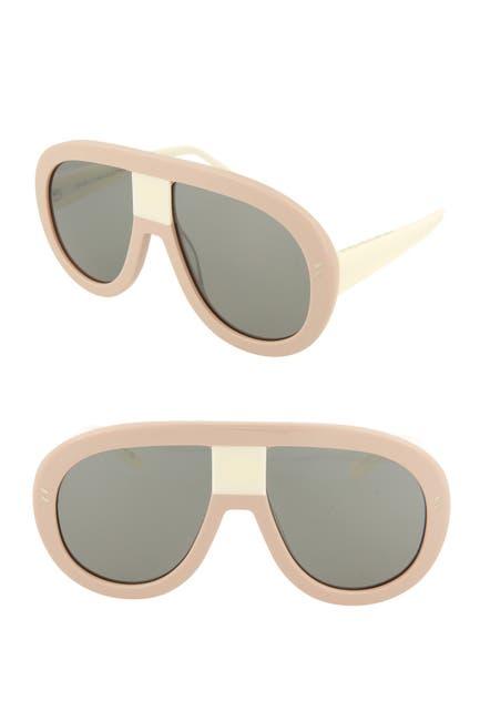 Image of Stella McCartney 60mm Shield Aviator Sunglasses