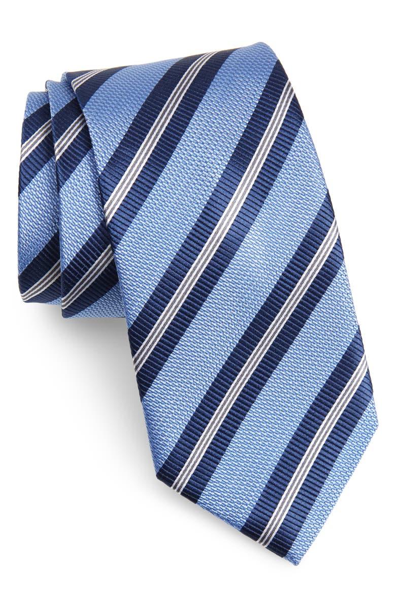 NORDSTROM MEN'S SHOP Stripe Silk Tie, Main, color, BLUE