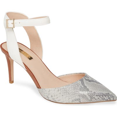 Louise Et Cie Kota Ankle Strap Pump- Grey