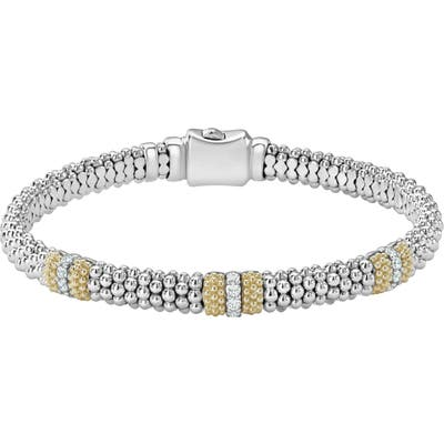 Lagos Caviar Diamond Station Bracelet