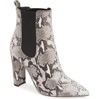 Tony Bianco Lavida Snake Embossed Pointy Toe Boot, Grey