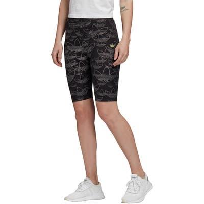 Adidas Originals Print Bike Shorts, Black