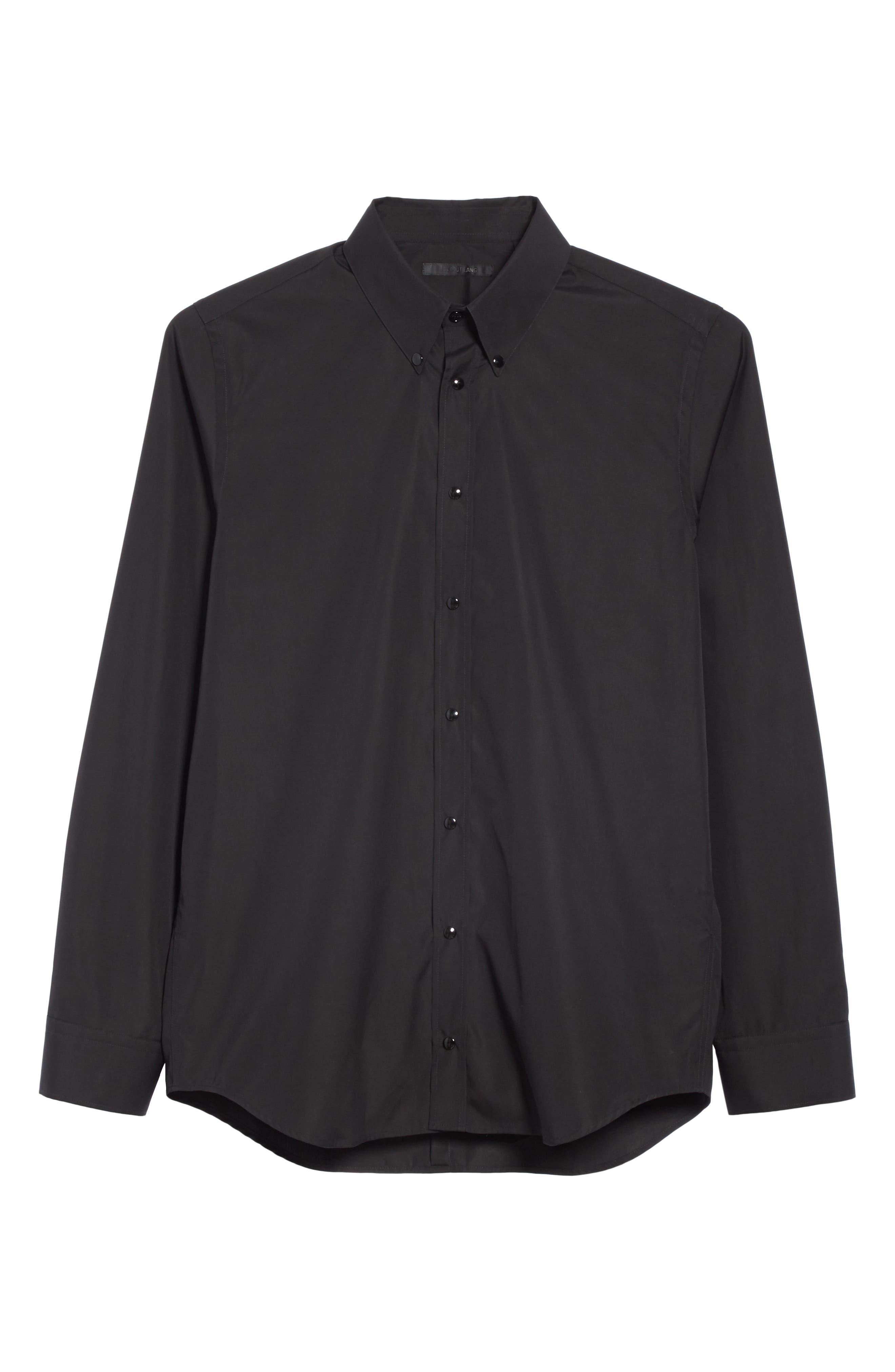 ,                             Woven Shirt,                             Alternate thumbnail 6, color,                             BLACK